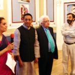 With Lord Megnad Desai at London at his photo exhibition