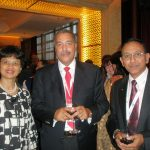 With S.African Minister Ms. Tina Joemat-Pettersson and Banker Mr. André Soumah
