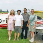 At the Nuremberg flying club with Rudiger Kraus