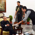 With Fmr. President Pranab Mukherjee