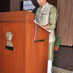 Delivering speech at Raj Bhavan