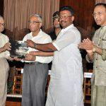 With Just (retd) Chittatosh Mookerjee, H.E. Gov. M. K. Narayanan, Firhad Hakim at Raj Bhavan
