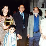 Family members with Governor of West Bengal