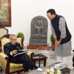 With Fmr. President Pranab Mukherjee