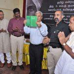 Dr. Gunasekharan releasing Karaiyora Kavidhaigal by Kumar